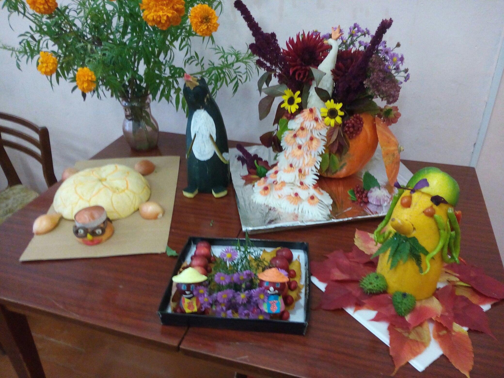 Фото выставки поделок из овощей